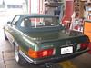 Mercedes SL107 mit grünem Stoffverdeck von CK-Cabrio
