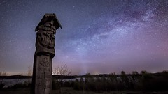 guardian of the night-X3.jpg (bayborahan) Tags: travel trees sky lake slr art nature water statue fairytale night digital photoshop stars landscape star photo wooden nikon shrine europe european folk space fineart landmark totem carving baltic astro pole hills nighttime stellar galaxy photograph astrophotography figure processing totempole lone mystical nightsky dslr awe cosmos lithuania vilnius meteor lithuanian constellation trakai d800 milkyway shootingstar lietuva postprocessing northerneurope starscape travelphotography karaim troki woodencarving galv karaites thefella lietuvosrespublika starphotography conormacneill vilniuscounty thefellaphotography lakegalv