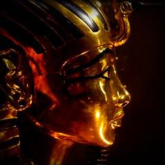 The Gold Mask of Tutankhamun (Replica) (S Cansfield) Tags: museum lumix gold mask egypt panasonic replica tutankhamun gx1