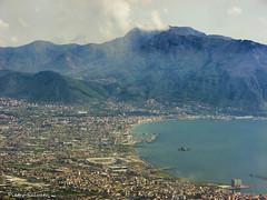 My city view from Vesuvius (PietroEsse) Tags: panorama landscape vesuvius vesuvio castellammaredistabia faito canonpowershots3is