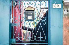 / burano / italy / (aubreyrose) Tags: travel venice italy color mailbox island europe burano posta