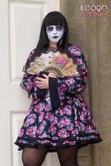 IMG_1733 (Neil Keogh Photography) Tags: girl graveyard fan dress goth geisha kimono whitbygothweekend