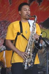 Pinstripe Brass Band (2014) 06 - sax player