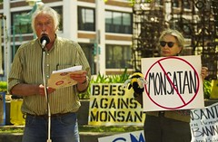 Farmers Against Monsanto (Light Brigading) Tags: sign square bees banner joe bee milwaukee gmo monsanto catalano brusky geneticallymodifiedorganism marchagainstmonsanto