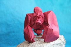 Gorilla by Nguyen Hung Cuong (Dmitriy Panyukov) Tags: origami gorilla hung nguyen cuong