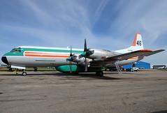 C-FIJX (John W Olafson) Tags: airplane lockheed reddeer airtanker buffaloairways l188 cfijx n28k elecrtra