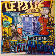 Nostalgie by Tarek (Pegasus & Co) Tags: urban streetart art colors painting graffiti artwork stencil paste arts picture dessin peinture menatwork worldwide rue couleur artistes  urbain tarek    gomtrique  geometrik urbart artistical       menatworkgirl