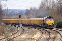 IMG_2207 (Kev Gregory) Tags: march farm no working db 66 class parkway boxes 14th stud loaded vq coleshill ballast approaches schenker 2013 bescot 66039 6g16 ewsliveried