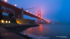 San Francisco Morning Fog (davidyuweb) Tags: sanfrancisco california morning usa misty fog lens point san francisco fort lucky sfist tiltshift snaphsot luckysnapshot