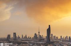 Kuwait - Fire Cloud Sunset Over Al Tijariya Tower (Sarah Al-Sayegh Photography   www.salsayegh.com) Tags: city sunset clouds canon cityscape cityscapes bluehour kuwait kuwaitcity cityskyline q8 q8city leefilters kuwaitskyline kuwaitcityskyline canoneos5dmarkiii wwwsalsayeghcom sarahhalsayeghphotography infosalsayeghcom