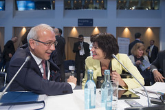 Lütfi Elvan, Turkey and Doris Leuthard, Switzerland speaking