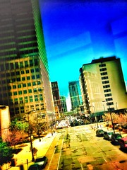 Down 11th (connor.bednarek) Tags: road city cars photography photo skyscrapers edited teens minneapolis teen busy tilt amateur retouching edit skyway iphone coolpictures teenphotographers youngphotographers coolpicture amateurphotography cbphotography snapseed connorbednarek