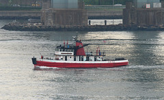 Governor Alfred E. Smith, FDNY, in New York, USA. May, 2014 (Tom Turner - SeaTeamImages / AirTeamImages) Tags: nyc red usa newyork classic water crimson port vintage scarlet bay harbor boat marine unitedstates harbour vessel pony maritime transportation statenisland firefighting bigapple fdny firedept firedepartment channel narrows waterway fireboat fleetweek bravest tranport tomturner fleetweeknyc governoralfredesmith govalfredesmith fleetweek2014