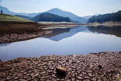Awating monsoon.....   Kundala dam,Munnar (Gulfu) Tags: summer mountain reflection green water landscape photography leaf bath dam dry heat cracks munnar hourse kundala gulfu