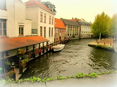 Brugge (Susanphotographer) Tags: old city houses water architecture europa europe belgium north brugge medieval case canals picturesque acqua citt belgio