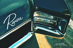 67 Riv (Hi-Fi Fotos) Tags: green face vintage design buick cool nikon classiccar riviera sigma style headlights front retro sharp bumper chrome american badge 1967 script luxury 67 sixties hideaway chromography d5000 18250mm hallewell hififotos