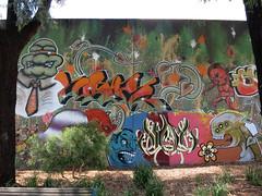 Fitzroy Whitlam Place Mural (wiredforlego) Tags: streetart graffiti stencil mural au fitzroy australia melbourne mel urbanart