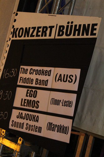 The Crooked Fiddle Band and Ego Lemnos.  The two southern hemisphere acts at Rudolstadt 2011
