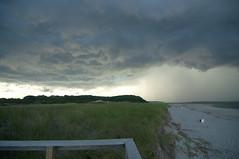 Storm clouds over dunes at Crane's Beach (SarahRydgren) Tags: ocean summer sky storm love beach water photography sand nikon massachusetts newengland lightning thunder ipswich extremeweather cranesbeach parkranger ipswichmassachusetts trusteesofreservations nikond90