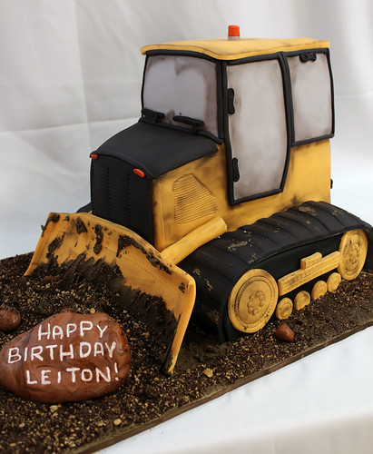 Bulldozer Cake Custom