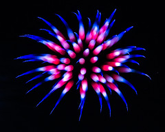 fire anemone red white blue fireworks (OC TC) Tags: school high fireworks taken 4th july local 2014