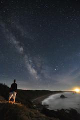 A Sky full of Stars (The NikonSniper) Tags: beach night oregon stars coast selfie tokina1116mmf28