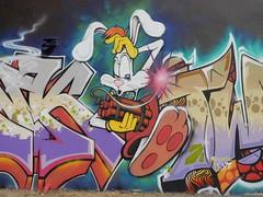 Honk (tomatokid99) Tags: france rabbit art graffiti montpellier urbanart graff honk lapin rogerrabbit hérault twone montmaur