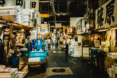 Tsukiji (kenawy.nl) Tags: sea people food fish japan sushi tokyo market working tsukiji much too 2014