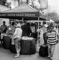 farmers market (mfauscette) Tags: street nyc blackandwhite 6x6 film mediumformat ilfordhp5 mamiya6 unionsquare