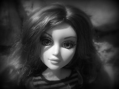 Mary-Anne (DollyDolly - The Lass with Toys and a Camera) Tags: portrait blackandwhite topv555 doll wig glasseyes moxie fantasyworld moxieteenz moxieteens moxieteen