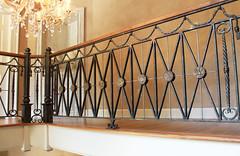 Greenbrier Railing 1 (karinedch) Tags: metal hammered hand kentucky made westvirginia blacksmith railing railings luxury forged thegreenbrier maynardstudios