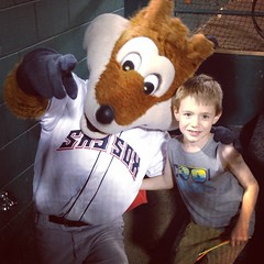 #Malikai and Sox the Fox hanging out in the dugout after the post-game show tonight. #SkySox / on Instagram http://instagram.com/p/q8ggxgsmgf/