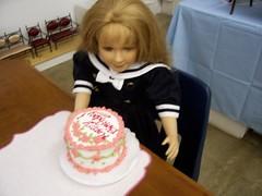 Happy Birthday cake... (Pumpkin Hill Studios/King William Miniatures) Tags: americangirl playfood mytwinn bjds playscale dollfood bjdfood
