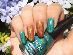 JADE Mirage + JADE Uau! (rittkin) Tags: orange turquoise nail polish nails jade nailpolish holographic holo