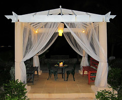 IMG_2385_fix (goatling) Tags: light home night island curtain gazebo tropical tropic caribbean cayman lantern carib caymanislands tropics grandcayman caribe westbay westindies britishwestindies gcm201407