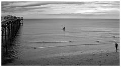 Saltburn (wayman2011) Tags: people bw beach canon coast seaside seascapes piers northyorkshire saltburnbythesea canon50d