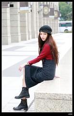 nEO_IMG_DP1U8733 (c0466art) Tags: show street morning light portrait girl beautiful fashion female canon lost eyes asia pretty outdoor walk gorgeous taiwan center lips east taipei charming activity aiu 1dx c0466art