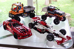 Lego Collection (therealjustin) Tags: red mars orange white snow car yellow set speed truck mercedes lego crane bricks machine fast rover super tires nasa collection technic motorcycle panels build loader ducati curiosity digger unimog excavator 8110 8051 8420 8070 8272 9398 42000 42009 8043