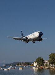 Blu Express, Citta di Roma, Boeing 737 at Skiathos in Greece. (Martyn Cartledge / www.aspphotography.net) Tags: uk blue panorama roma plane airplane greek fly flying airport europe blu aircraft aviation air transport flight jet aeroplane greece airline di express boeing runway skiathos airliner 737 citta cita martyn aerodrome b737 jsi cartledge bluexpress civilairliner cittadiroma civilairline aspphotography bluepanarama ibpai skiathios wwwaspphotographynet