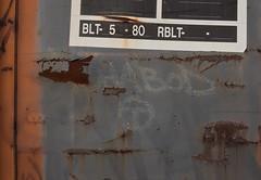 ICHABOD (TheGraffitiHunters) Tags: graffiti graff moniker streak markal paint stick street art freight train tracks benching benched boxcar ich ichabod t circle
