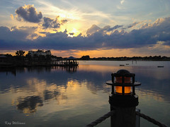 Between Sunrise and Sunset (jade2k) Tags: thevillages florida sunset pier water