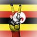 Peace Symbol with National Flag of Uganda