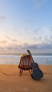 Guitar and the sunrise @Rio de Janeiro, Brazil