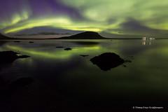 The mountain Stöð (Tómas Freyr) Tags: aurora auroraborealis grundarfjordur grundarfjörður iceland norðurljós westiceland landscape landslag ocean reflection sea vesturland ísland stöð stod mountain