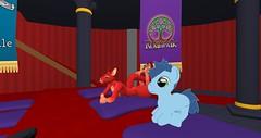 Primtionary 1 . 25 . 2017 (Marloo Redd) Tags: marlooredd secondlife 2017 january2017 january nop primtionary trotsdale mylittlepony friendshipismagic redkangaroo kangaroo red pony blue green purple
