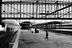 The forgotten passenger (pascalcolin1) Tags: paris13 austerlitz gare station train trains homme man oublié passagé forgotten passenger quais quay photoderue streetview urbanarte noiretblanc blackandwhite photopascalcolin
