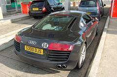 Audi R8 (D's Carspotting) Tags: audi r8 france coquelles calais black 20100613 s300djs le mans 2010 lm10 lm2010