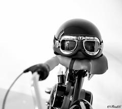 Let's go ! (Fréd.C) Tags: black white moto casque helmet glasses lunettes oldie vintage