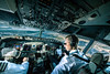 Cockpit view (John Christian Fjellestad) Tags: view console aircraft airplane osl fly norway oslo flight aviation cockpit boeing737 travel plane airphoto europe panorama pilot airline aviator control atc gardermoen sas flyselskap flytrafikk reise jobb utdanning pilotutdanning jobbsøk luftfart