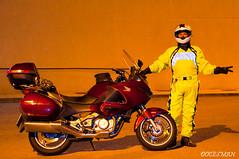 DOCESMAN (DOCESMAN) Tags: amarilla moto bike motor motorcycle motorrad motorcykel moottoripyörä motorkerékpár motocykel mototsikl honda nt700v ntv700 deauville docesman danidoces travel viaje viajero traveller